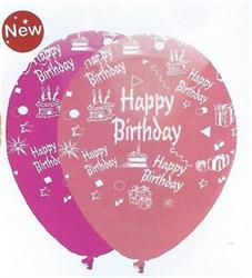 Happy Birthday Girl Mix Latex 30cm Single Pack