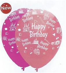 Happy Birthday Girl Mix Latex 30cm