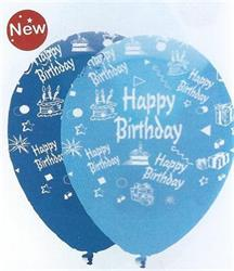 Happy Birthday Boy Mix Latex 30cm Single Pack