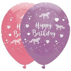 Unicorn Fantasy Birthday Pink and Lavender Latex 30cm