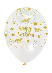 Unicorn Sparkle Birthday Gold Print on Diamond  Clear  Latex 30cm