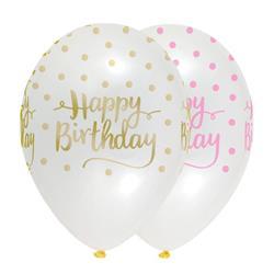 Pink Chic Happy Birthday Latex 30cm