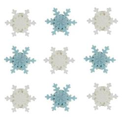 Sugarcraft Mini Snowflake Blue and WhiteToppers