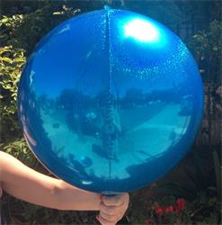Prismatic Sphere 40cm Blue Unpackaged