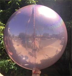 Prismatic Sphere 60cm Baby Pink Unpackaged