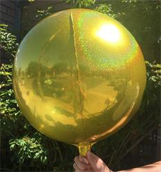 Prismatic Sphere 40cm Gold Unpackaged