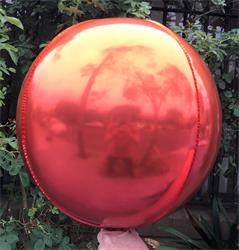 Sphere 40cm Orange and Red Ombre Unpackaged