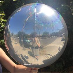 Prismatic Sphere 40cm Silver Unpackaged