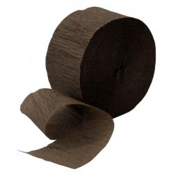 Streamer 25mtr Crepe Brown