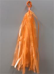 Tassels Quality Tissue 30cm Light Orange Pre-Cut Pack 16