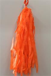 Tassels Quality Tissue 30cm Deep Orange Pre-Cut Pack 16