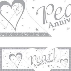 Giant Banner Pearl Anniversary 50 x 152cm