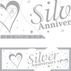 Giant Banner Silver Anniversary 50 x 152cm
