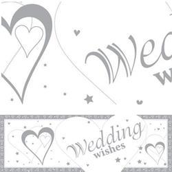 Giant Banner Wedding Wishes 50 x 152cm