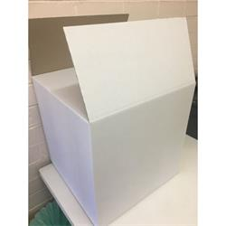 Strong White Carton. Right size to hold an inflated 45cm foil balloon. 40cm x 40cm x 40cm. Pack of 10