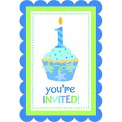 Sweet Little Cupcake Boy Invites