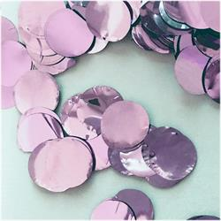 Confetti Metallic 1cm circles Light Pink 250 grams