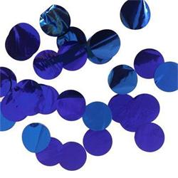 Confetti Metallic 3cm circles Blue 500 grams