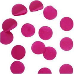Confetti Metallic 3cm circles Hot Pink 500 grams