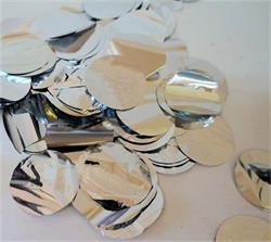 Confetti Metallic 3cm circles Silver 500 grams