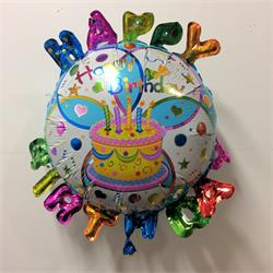 Bright Happy Birthday Round with Letters 64cm