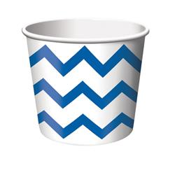 "Chevron Stripe Treat Cups Cobalt 6.4 x 8.8cm (2.5 x 3.5"")"