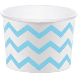 "Chevron Stripe Treat Cups Pastel Blue 6.4 x 8.8cm (2.5 x 3.5"")"