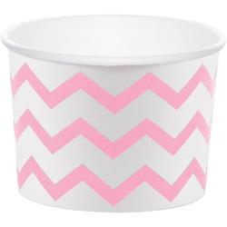 "Chevron Stripe Treat Cups Pink 6.4 x 8.8cm (2.5 x 3.5"")"