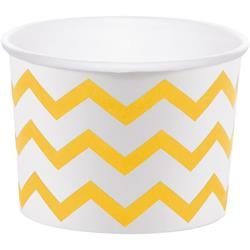 "Chevron Stripe Treat Cups School Bus Yellow 6.4 x 8.8cm (2.5 x 3.5"")"