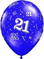Qualatex Balloons 21 Around Pearl Sapphire Blue 28 cm
