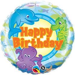 Qualatex Balloons Birthday Fun Sea Creatures 45cm