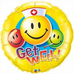 """Get Well Smiley Faces 36"""""""