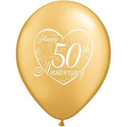 50th Anniversary Heart 28cm
