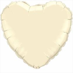 23cm Heart Pearl Ivory